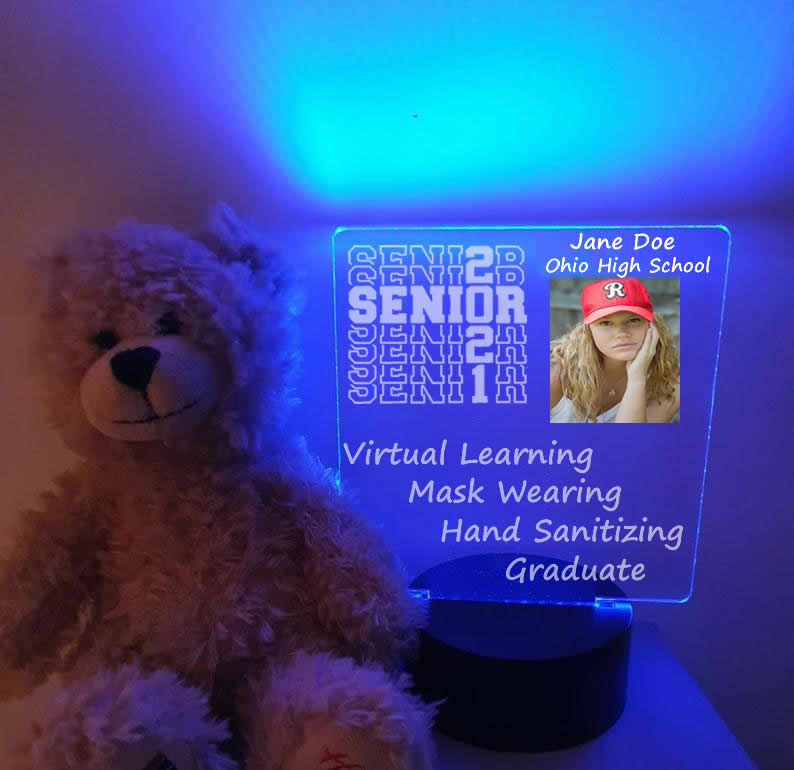 LED Color Changing Personalized 2021 Graduate Light