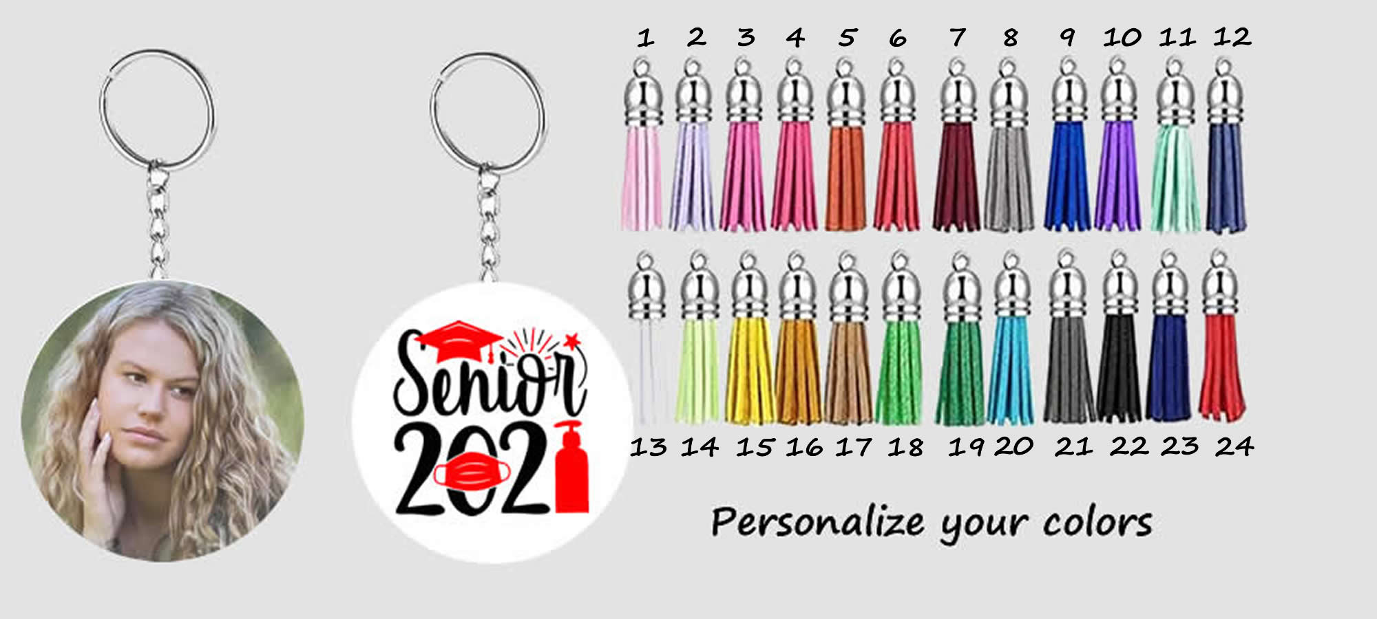 Senior 2021 Graduation Keychain