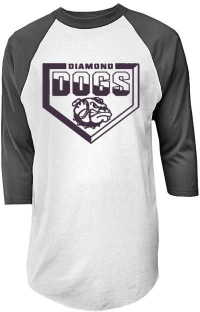 Diamond Dogs 3/4 Sleeve Raglan Baseball Jersey