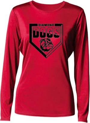 Diamond Dogs Ladies Long Sleeve Cooling Performance T-Shirt