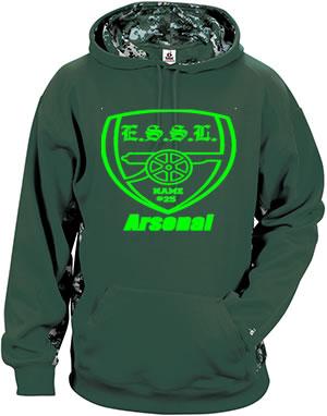 E.S.S.L. Soccer Club Digital Camo Blend Hoodie