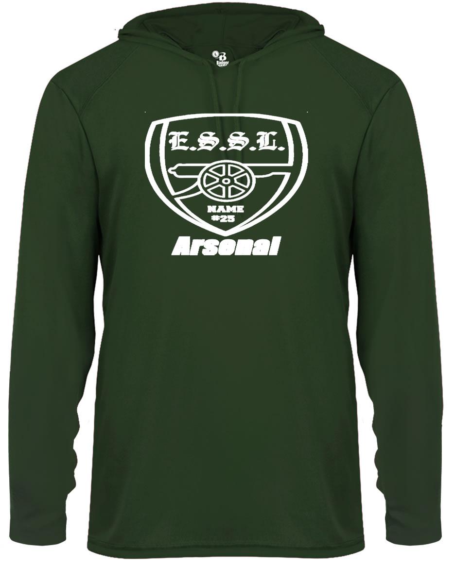 E.S.S.L. Soccer Club Badger Sport B-Core LS Hood Tee