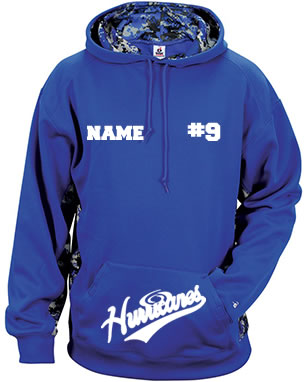 Hurricanes Script Logo with Name/Number Camo Hoodie
