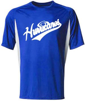 Hurricanes Script Cooling Performance Block Crew Shirt