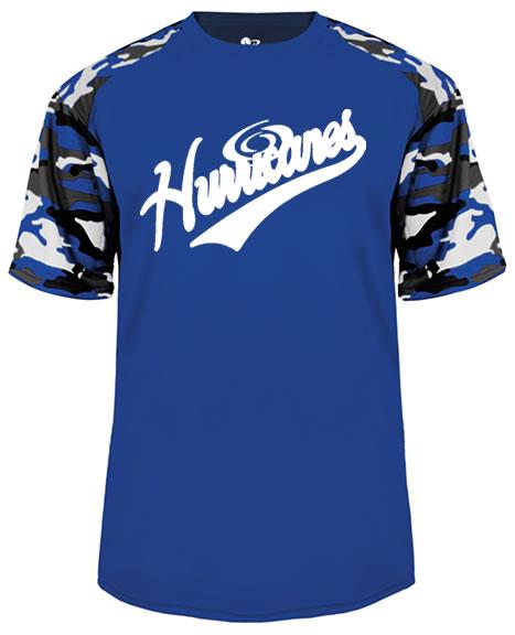Hurricanes Script Logo Camo Sport Performance Tee