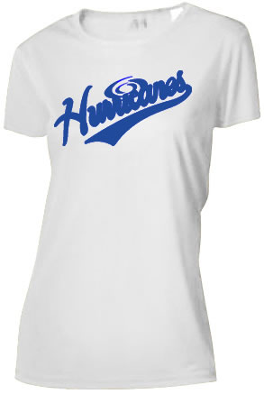 Hurricanes Script Logo Ladies Cooling Performance T-Shirt
