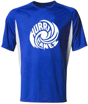 Hurricanes Swirl Cooling Performance Block Crew Shirt