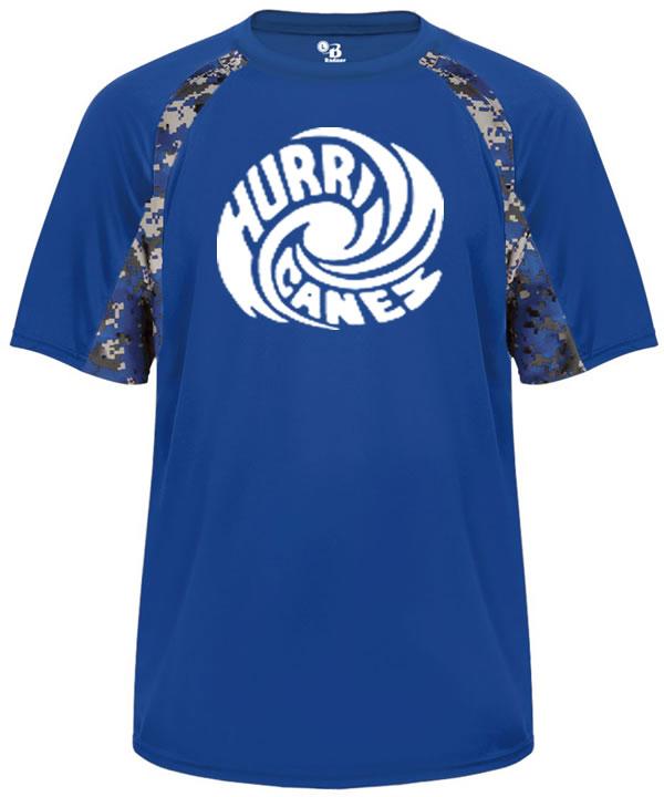 Hurricanes Script Logo Dark Camouflage Tee