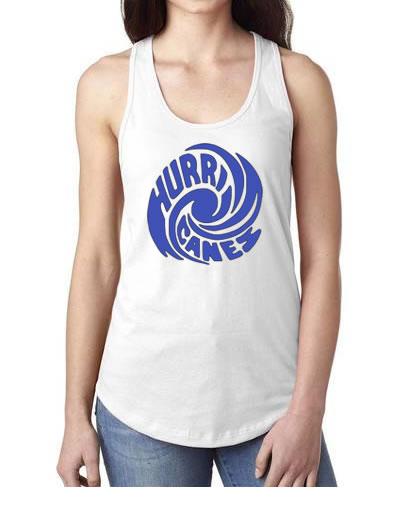 Hurricanes Swirl Logo Racerback Tank Top