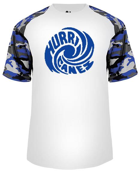 Hurricanes Swirl Logo Camo Sport Performance Tee