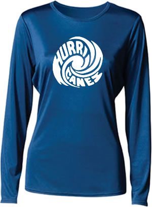 Hurricanes Swirl Logo Ladies Long Sleeve Cooling Performance T-Shirt