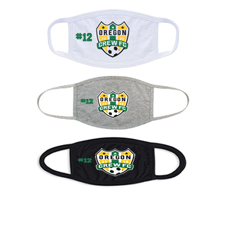 Oregon Crew Soccer Club Face Mask