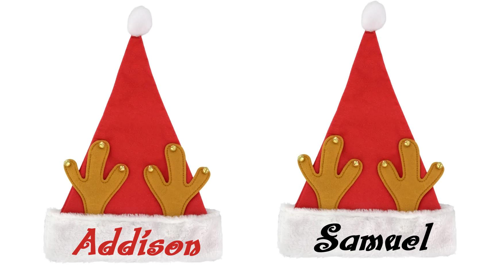 Personalized Reindeer Santa Hat