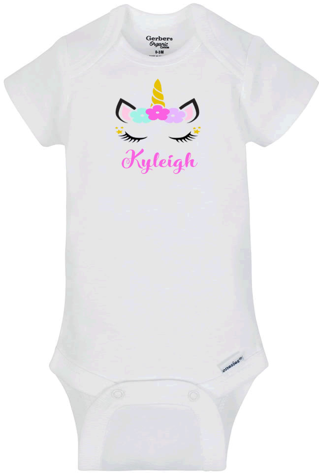 Personalized Unicorn Infant Bodysuit