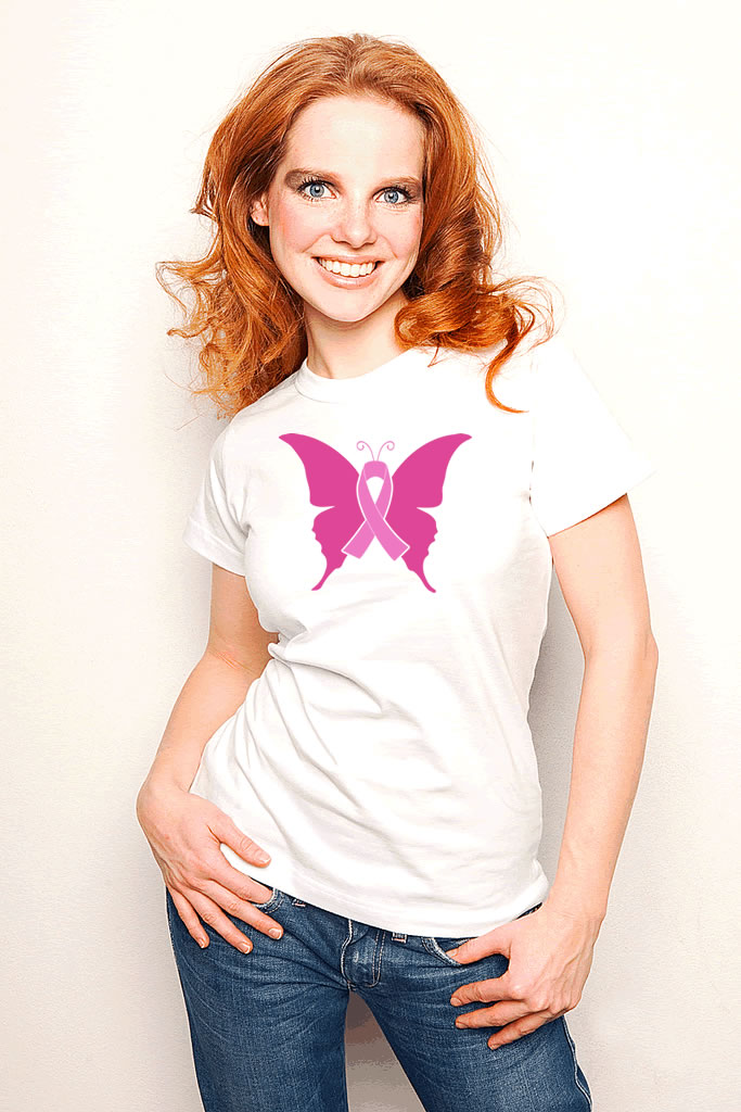Breast Cancer Ribbon Butterfly Shirt