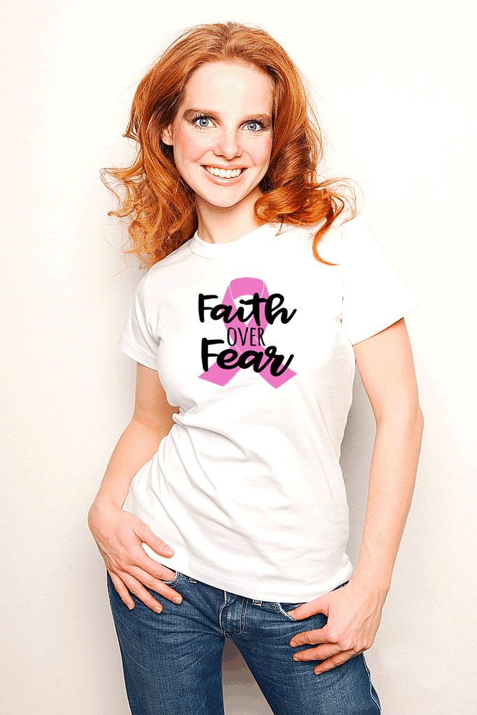 Faith Over Fear Breast Cancer Shirt