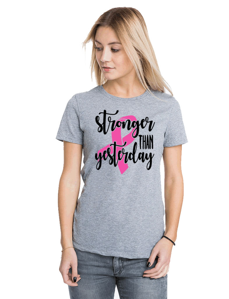 Stronger Than Yesterday Breast Cancer Shirt