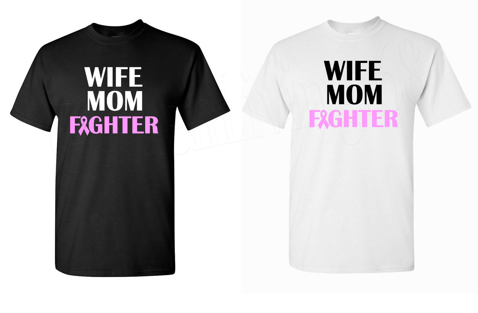 Wife Mom Fighter Breast Cancer Awareness Shirt