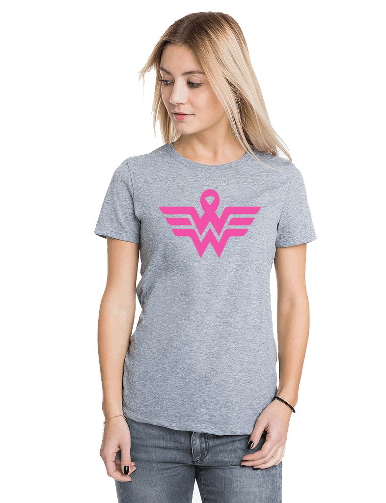 Wonder Woman Breast Cancer Shirt
