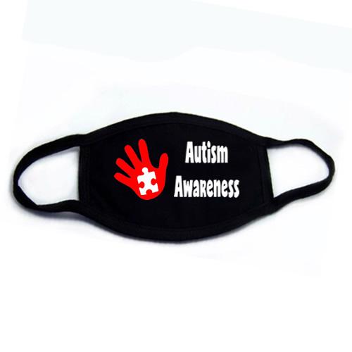 Autism Awareness Hand Face Mask