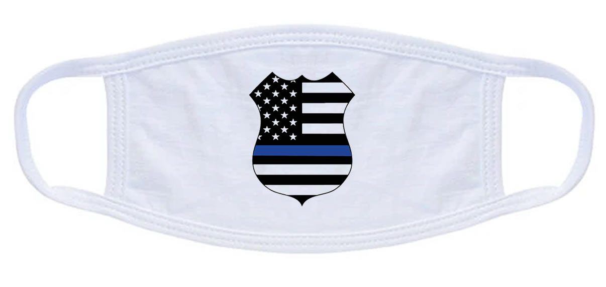 Thin Blue Line Badge Face Mask