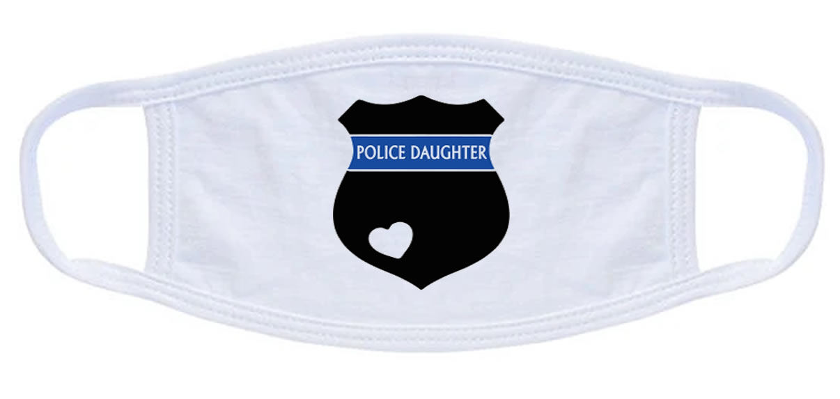Police Daughter Badge Face Mask