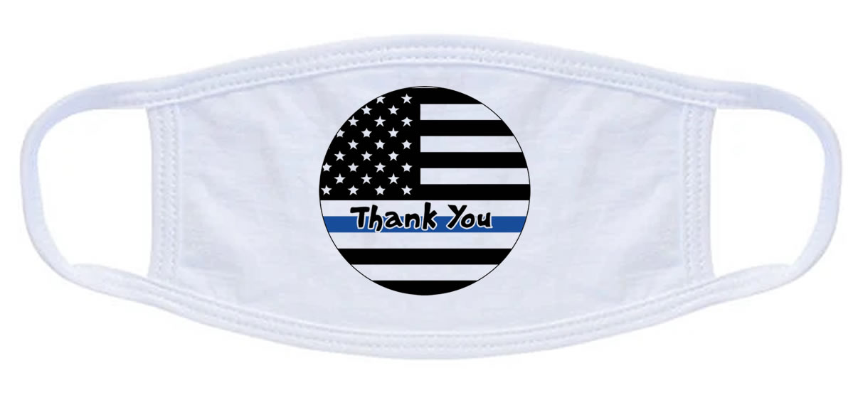 Police Thank You Face Mask