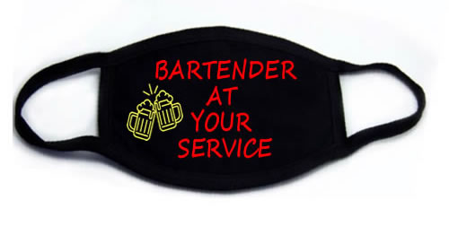 Bartender At Your Service Face Mask