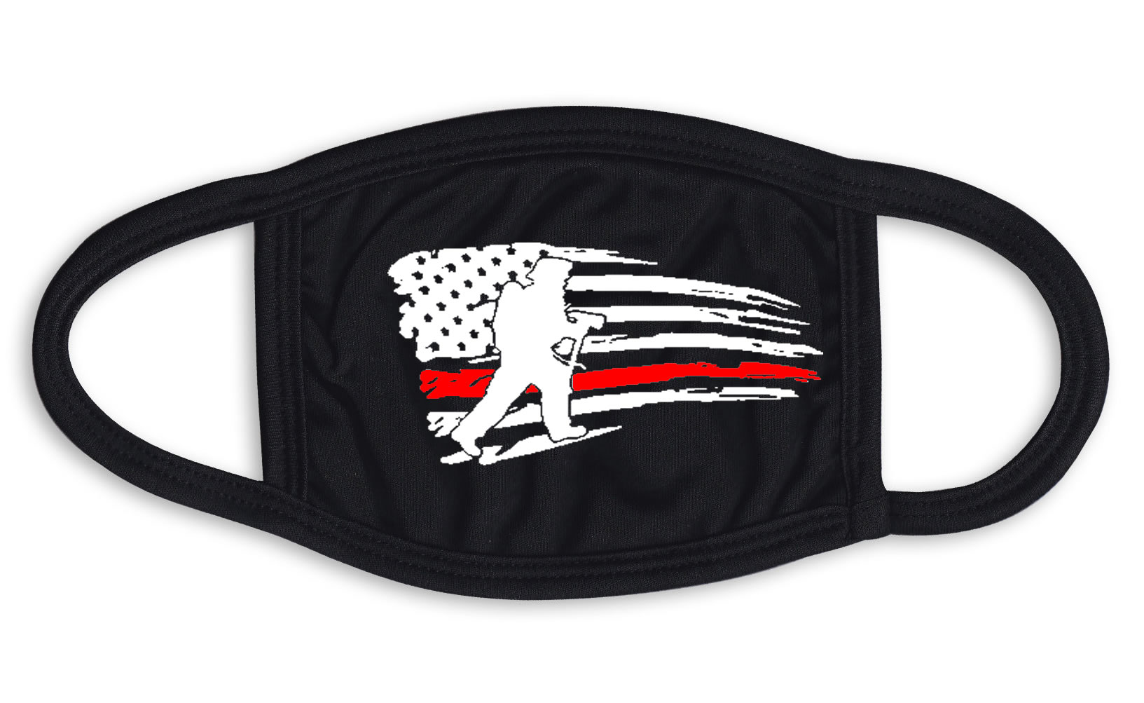 Thin Red Line Flag Firefighter Silhouette Mask