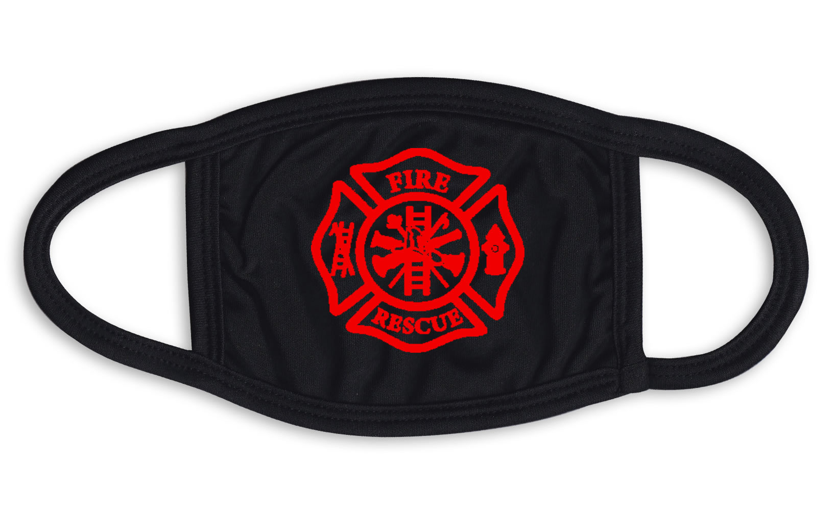 Fire And Rescue Emblem Face Mask