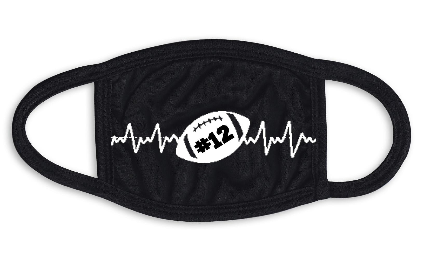 Football Heartbeat Face Mask