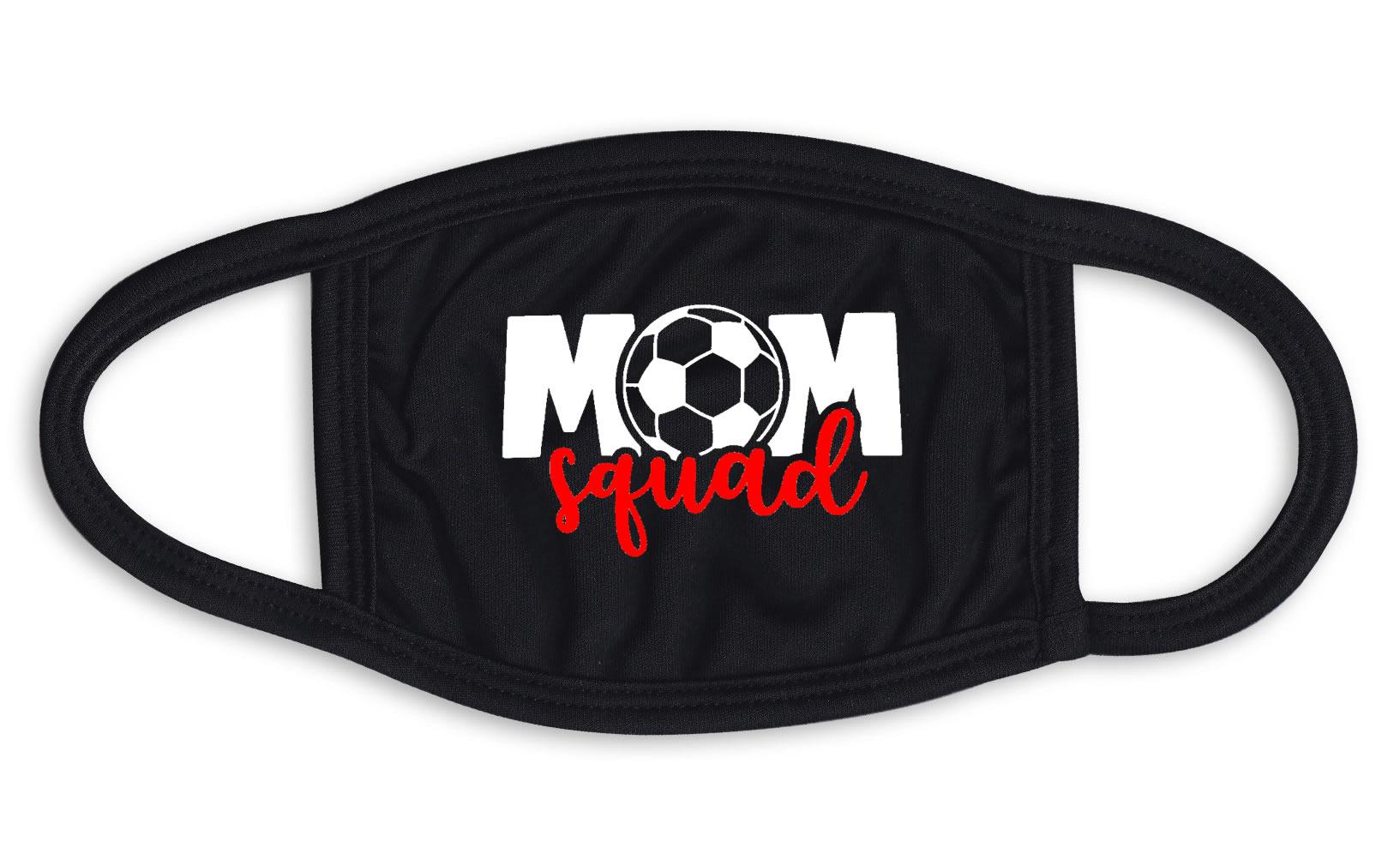 Mom Squad Soccer Face Mask