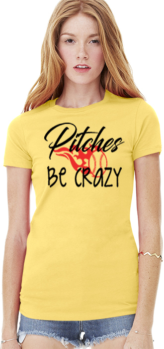 Pitches Be Crazy Bella+Canvas Womens The Favorite Tee