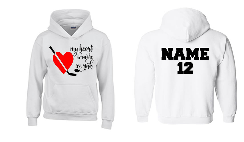 My Heart Is On The Ice Rink Hoodie