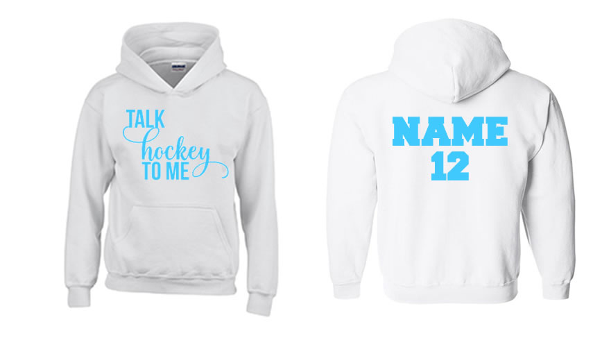 Talk Hockey To Me Hoodie