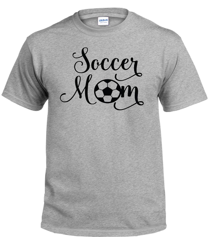 Soccer Mom Script Shirt Grey