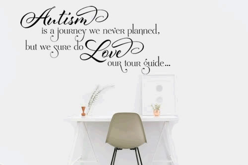 Autism Is A Journey Vinyl Wall Decal
