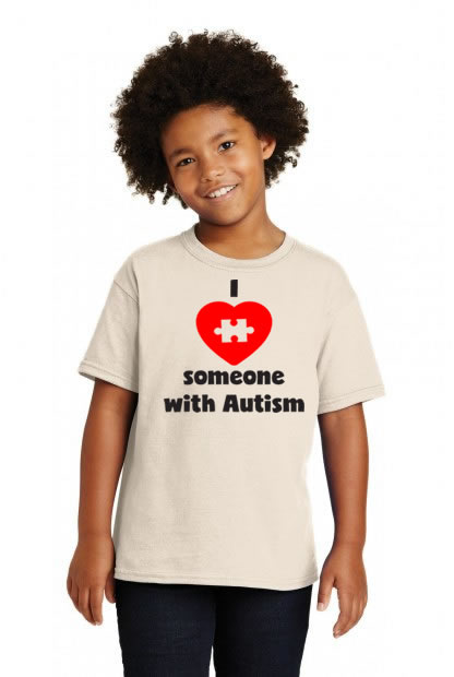 I Love Someone With Autism Puzzle Piece Heart Shirt