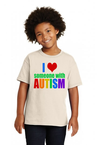 I Love Someone With Autism Colorful Shirt
