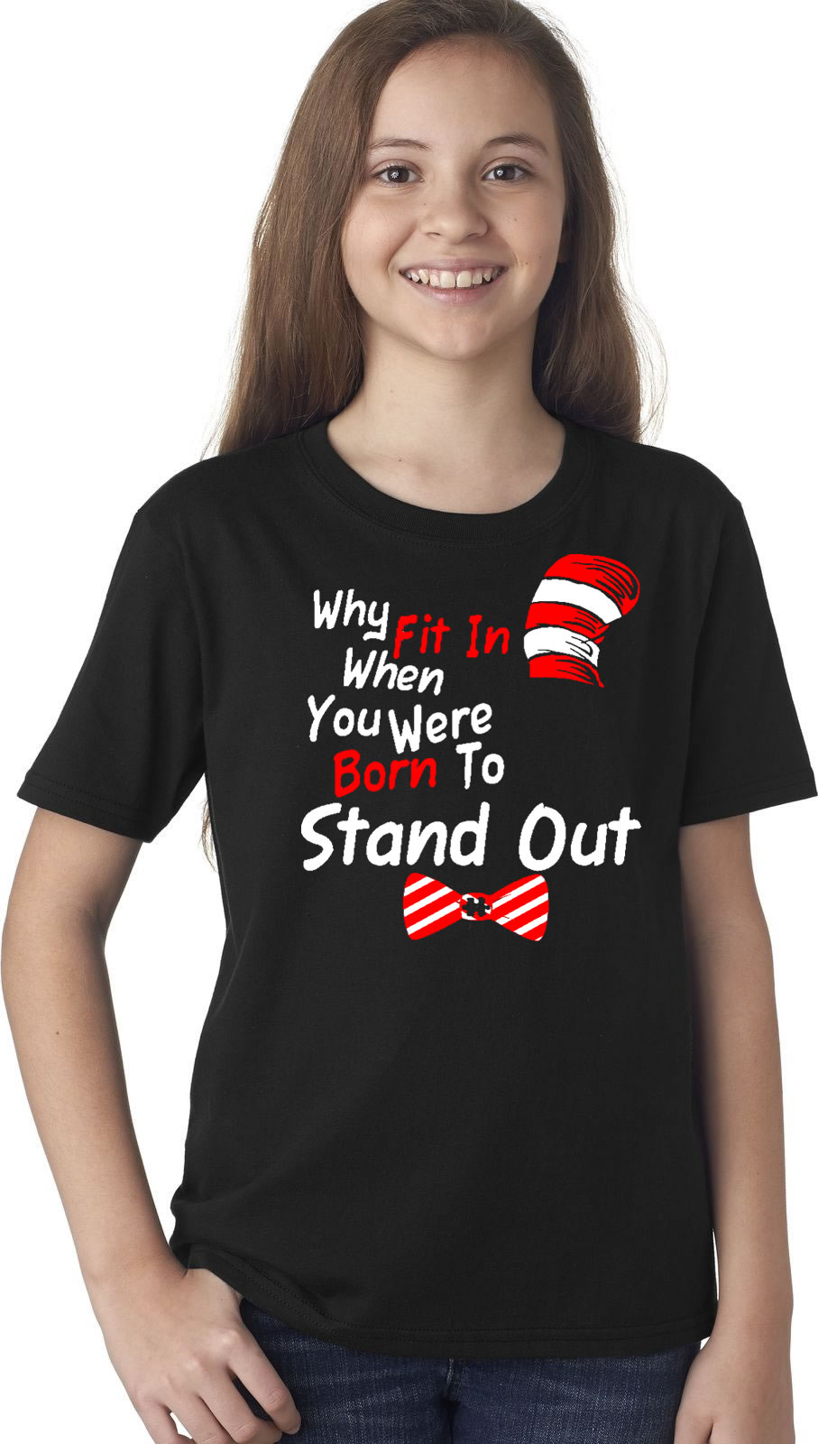 Why Fit In When You Were Born To Stand Out Autism Dr. Seuss Shirt